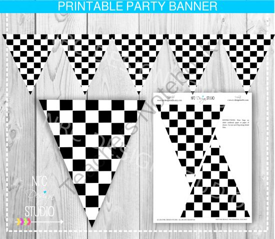 Checkered Flag Banner From NRC
