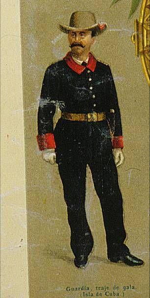 Guardia Civil (uniforme de gala en Cuba - 1895)