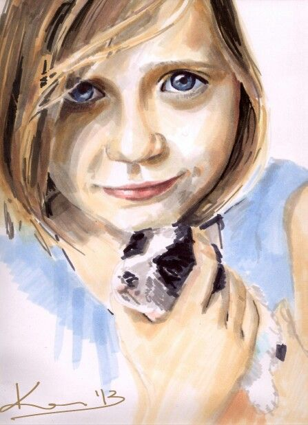 Sophie and puppy by Kate Kos