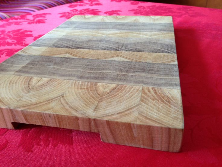 End grain cutting board made of walnut and cherry.  Waiting for a home to fit in ;)