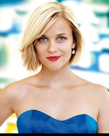 Reese Witherspoon's layered, textured bob is ideal for ladies with naturally straight hair (or for curly girls who don't mind spending time with the flat-iron).