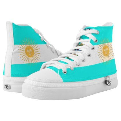 Argentinian flag High-Top sneakers - pattern sample design template diy cyo customize