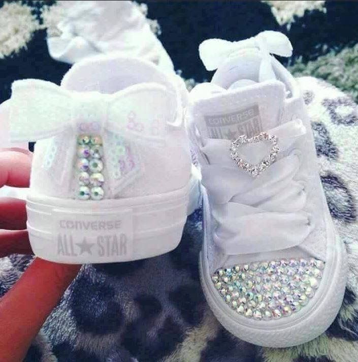 These GLAM CONVERSE are the cutest little Baby Shoes we have ever seen...Adorable!!! Find them here ---> https://www.facebook.com/Crystal-converse-footwear-891943627512714/