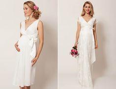 Vestido de noiva para grávida: escolha o conforto! A noiva à espera de seu filho se torna ainda mais linda e radiante. Veja dicas simples para escolher um vestido de noiva para grávida incrível.