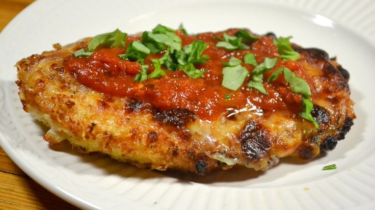 Normally I don't like Chicken Parmesan because the marinara sauce feels too heavy and overcooked. So I was excited to try this recipe after seeing the photo on Chris Kimball's website; the tomatoes...