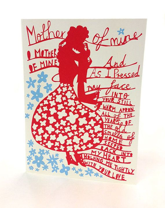 Mother of Mine card by misterrob on Etsy, $18.22