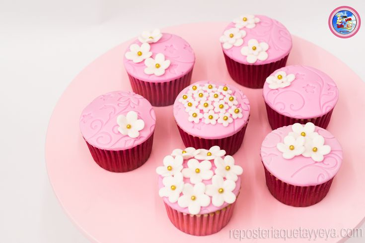 Cupcakes flores - Flowers cupcakes