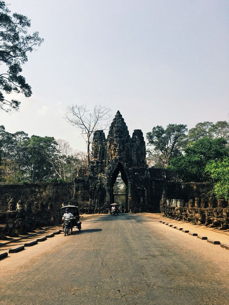 Angkor Thom South Gate, Siem Reap, Cambodia. 26 March 2016.
