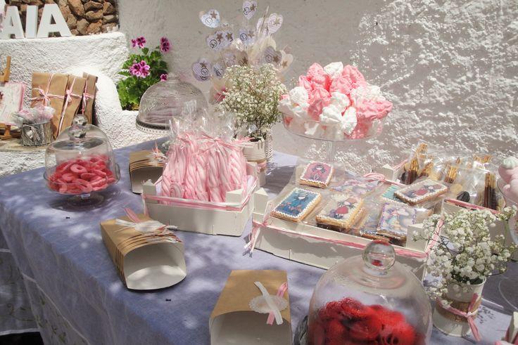 decoració taula de dolços comunió