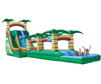 60′ Tropical 2 Lane Slide, Slip-n-Splash Combos high quality