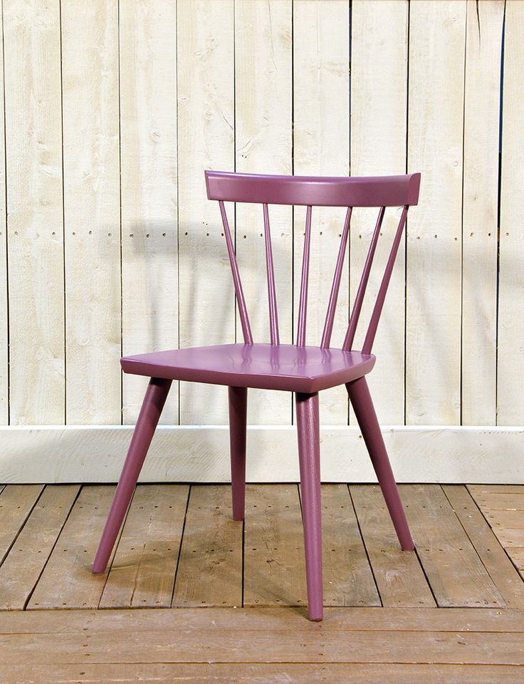 Cottage Life Sticks Chair in Maple Plum - Wooden Painted Chair - Oaksmith Interiors