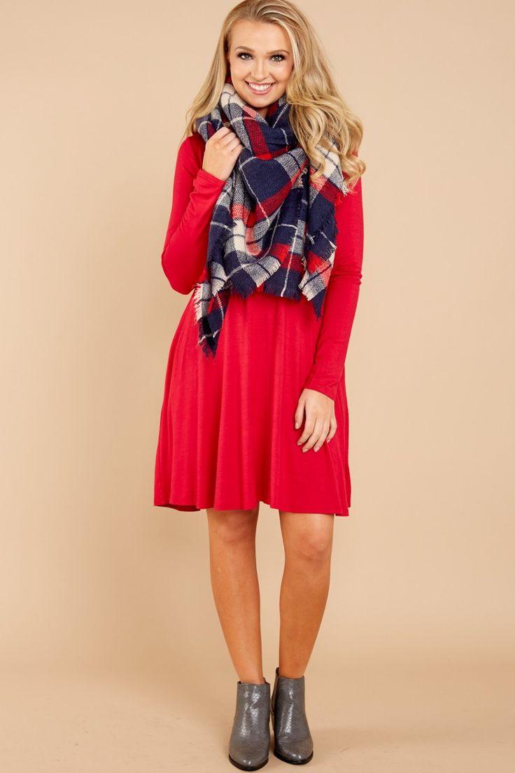 1 Simplicity Is Key Red T Shirt Dress at reddressboutique.com
