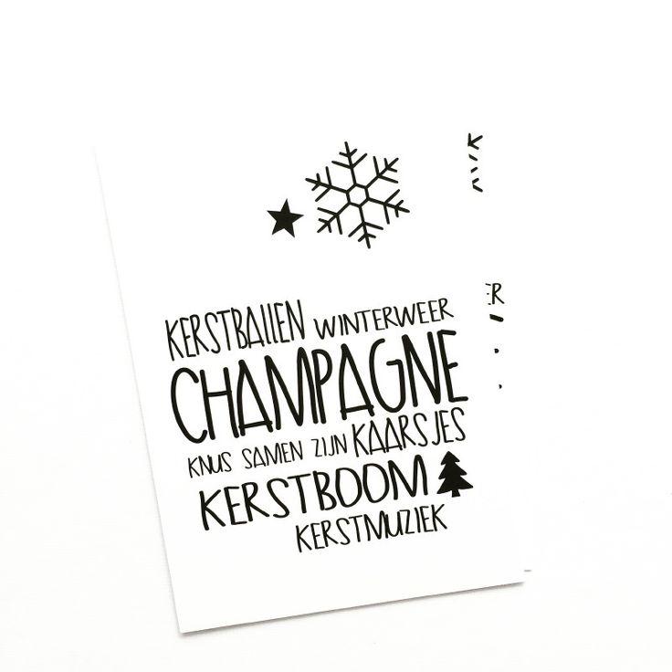 Kerstkaart Champagne