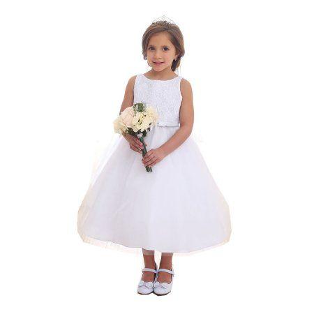 8a8d318cb73 Girls White Lace Top Tulle Junior Bridesmaid Dress 8-12  bridesmaiddresses