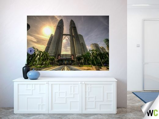 'Petronas' – The Petronas Twin Towers in Malaysia.