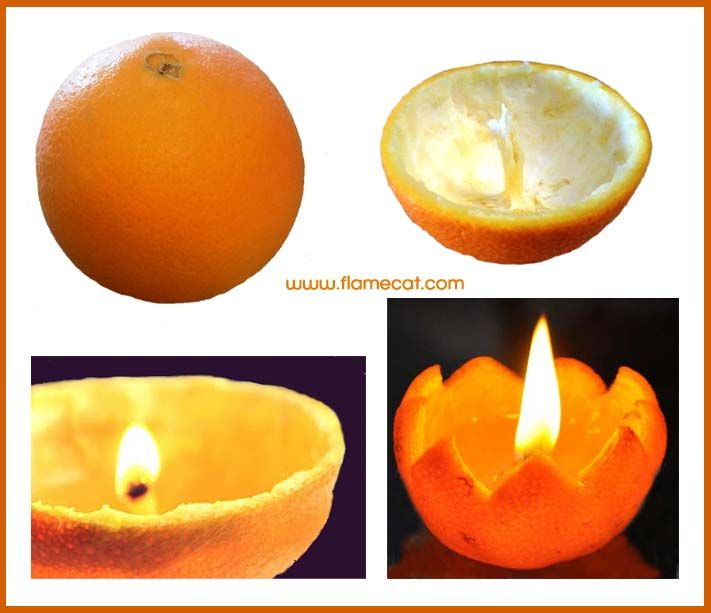 How to make a candle out of an orange. Perfect camping party trick!