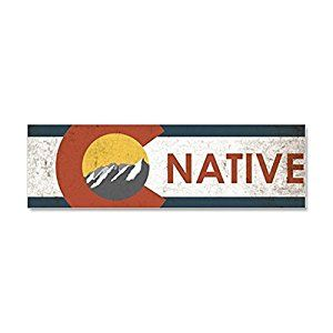 Amazon.com: CafePress - Colorado Native Red Car Magnet 10 x 3 - Car Magnet 10 x 3, Magnetic Bumper Sticker: Automotive