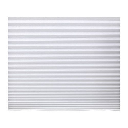 SCHOTTIS Pleated shade   - IKEA $2.99  - use for bottom half of nursery window for privacy from the street.