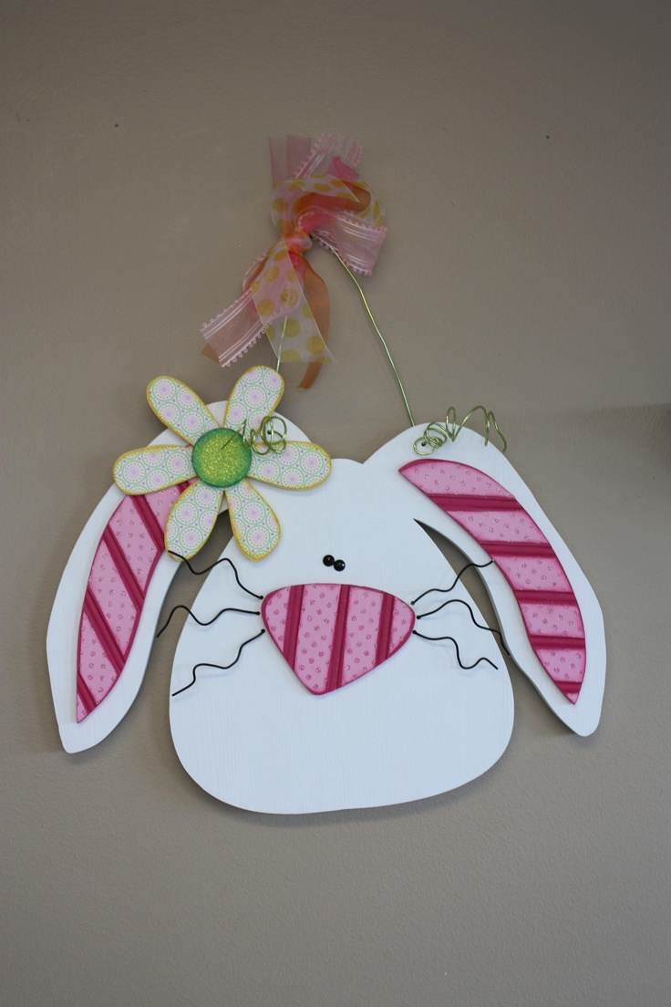 Whimsical bunny. Would be so cute made out of burlap!