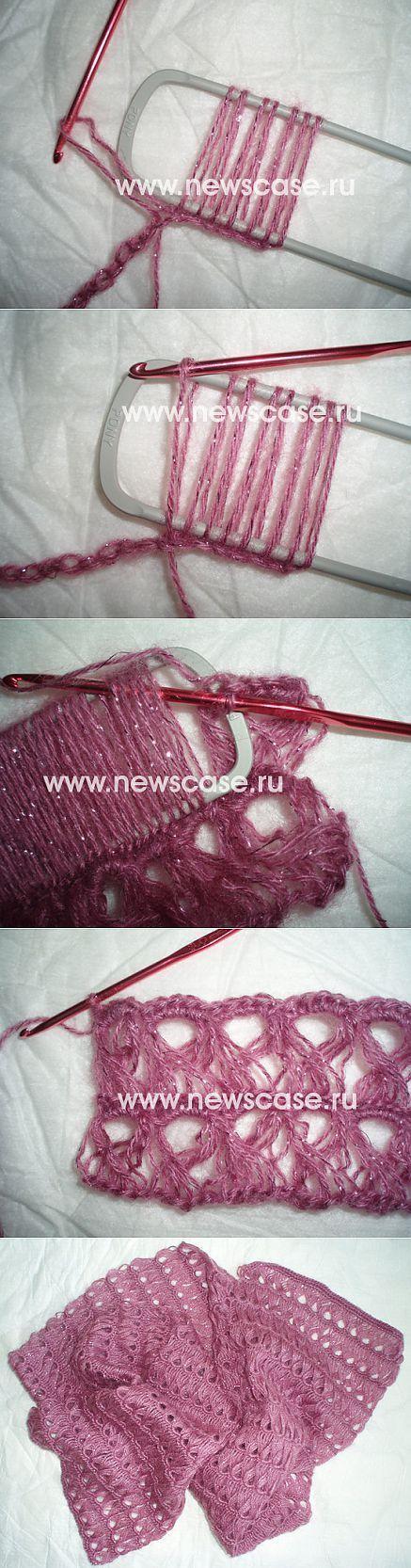 Перуанское вязание. Мастер-класс Шарфик. [] #<br/> # #Hairpin #Lace,<br/> # #Kitten,<br/> # #Things,<br/> # #Tissue,<br/> # #Scarves<br/>
