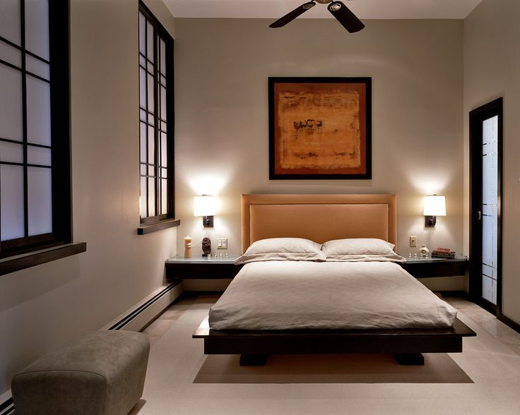 Wall mounted reading lamps for bedroom bedroom contemporary with platform bed dark wood bed