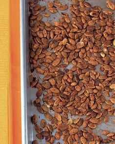 Spicy Pumpkin Seeds | Martha Stewart Living - They taste great raw or toasted as a snack. Also called pepitas, they add a delicate flavor and texture to many recipes.