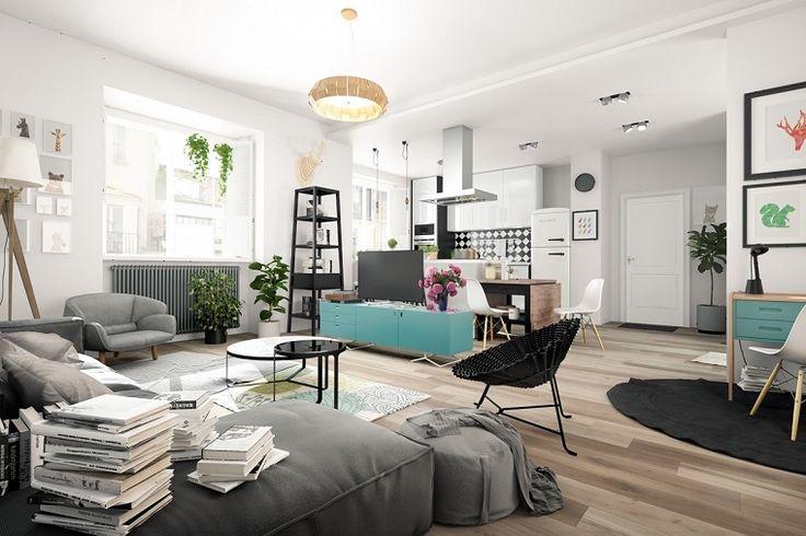 Stile nordico: 24 atmosfere suggestive per il living e la camera da letto