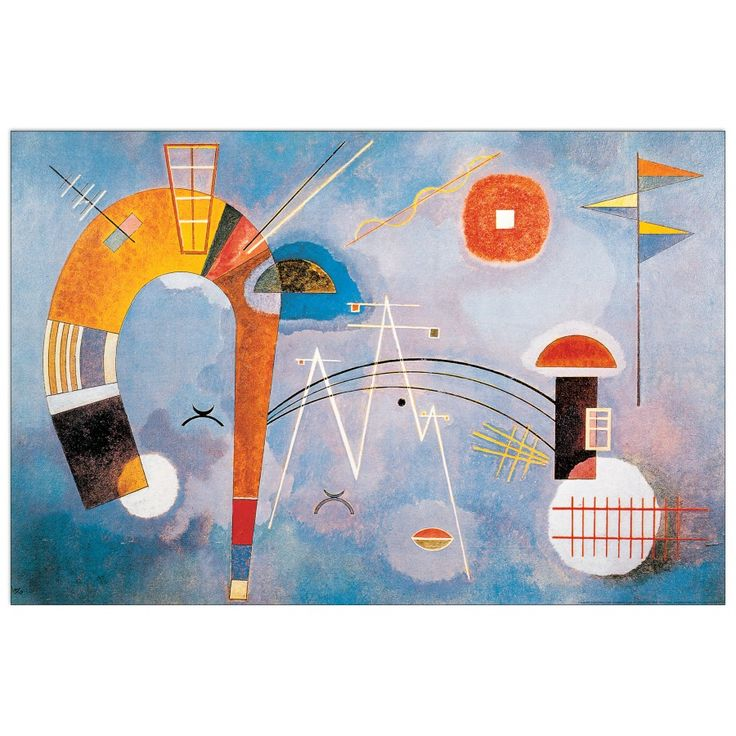 KANDINSKY - Rond et pointu 90x60 cm #artprints #interior #design #art #print #iloveart #followart #artist #fineart #artwit  Scopri Descrizione e Prezzo http://www.artopweb.com/autori/wassily-kandinsky%20/EC21577