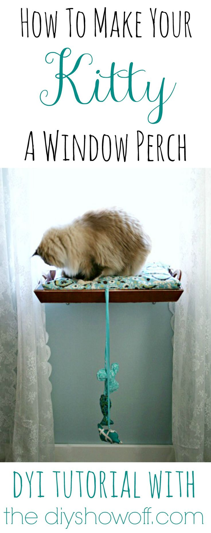 How To Make a: Diy Kitty Window Perch - Pet Bed Cat Seat #pets #cat