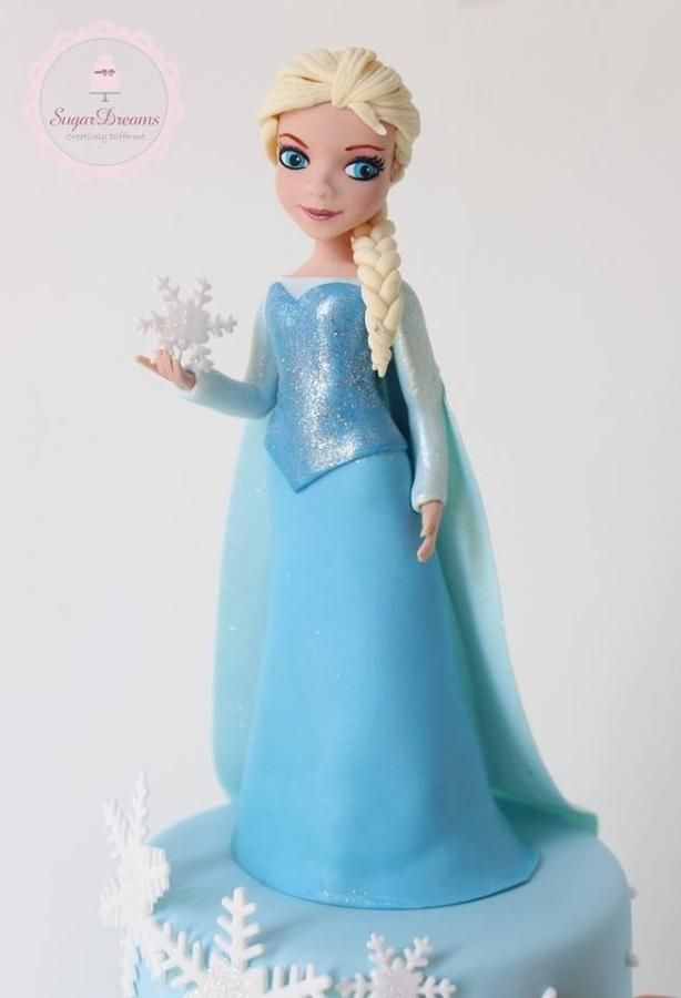 Queen Elsa Topper 3D Fondant/Tutorials Pinterest ...