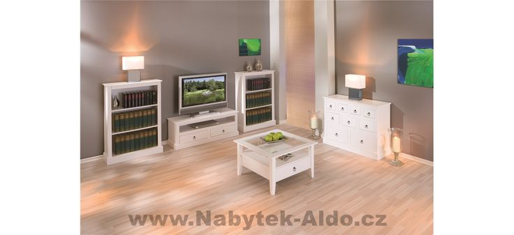 Rustikální nábytek v bílé barvě
