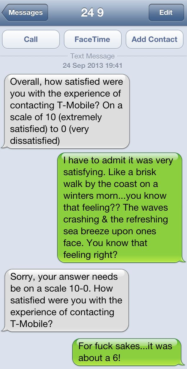 conversation with a phone company