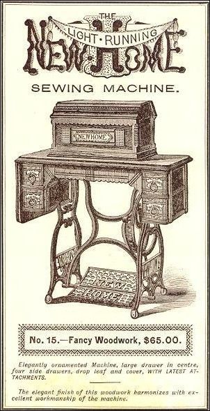 Gold Medal Sewing Machine Company: Established in 1860 in Orange, Massachusetts. It was renamed the New Home Sewing Machine Company in1882 / Heirlooms by Ashton House