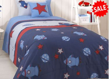 Boys Bedding - Space Bedspread at Children's Rooms