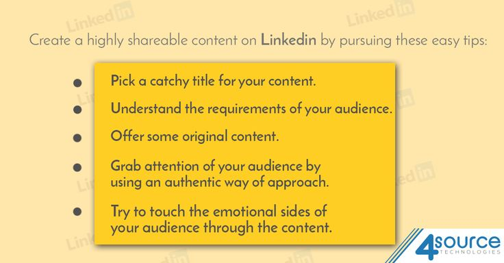 Creating content to share on Linkedin can actually be a tricky job. Think about using these tips for making your content more interesting.