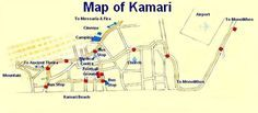 Map of Kamari Santorini