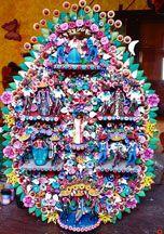 Jose Luis Serrano Carrillo's unique versions of Arboles de la Vida (Trees of Life) have earned him special recognition in the folk art world.