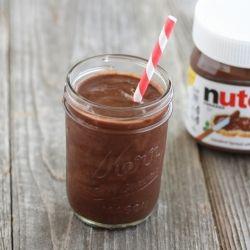 Nutella Banana Milkshake. Only 2 ingredients and no ice cream or milk needed.