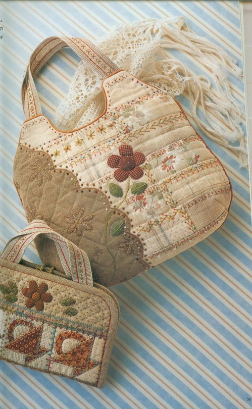 Embroidery Patchwork Quilt ~japanese craft isbn4-89396-918-8  great blog...she posts about many