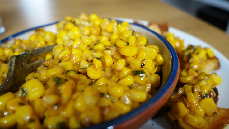 Smoky Mexican street corn. Somewhere between a dip and a side-salad. Either way, it's incredibly tasty and super easy to make!