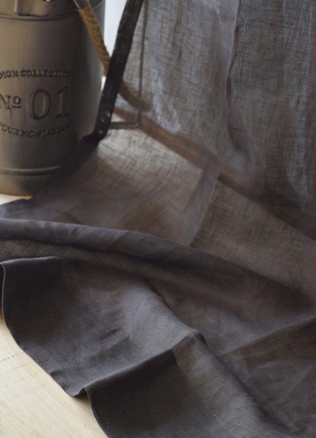 ラテ・チョコブラウン プレーンカーテン フラット ひだ山なし リネンレースカーテン 薄地レース サイズ幅140cm×丈250cm~ ¥20,800(税込)~¥31,200(税込) #リネンカーテン #プレーンカーテン