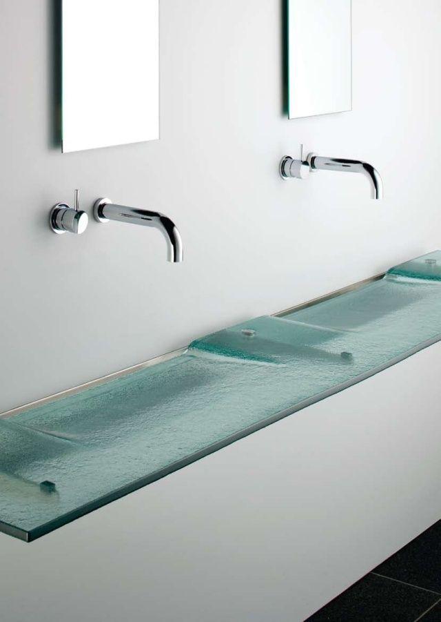 vasque salle de bain en verre: Linea Washplane par Omvivo   Bathroom ...