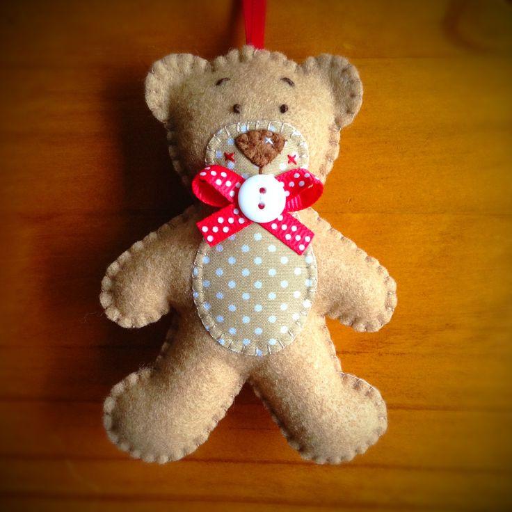 Hand stitched Felt Teddy Bear