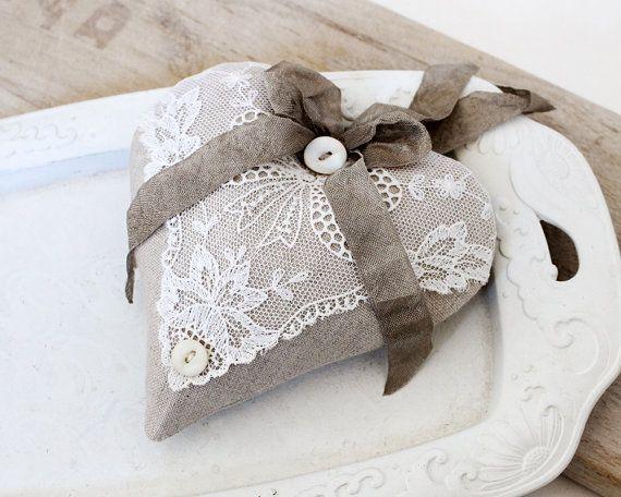 Linen  Lace Lavender Sachet