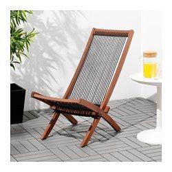IKEA - BROMMÖ, Hvilestol, utendørs, Enkel å klappe sammen og stu bort.