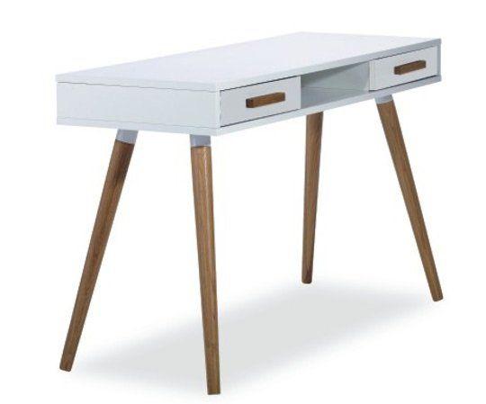 Köp - 1495 kr! Linköping Skrivbord - Vit. Ett skrivbord med två lådor i vit färg. Stomme av
