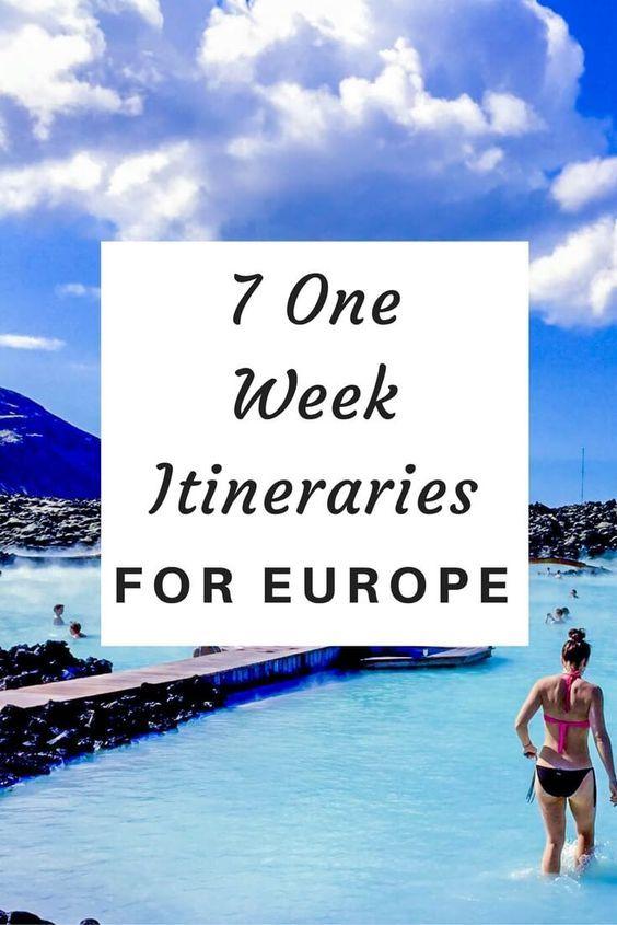 7 der besten einwöchigen Reiserouten für Europa