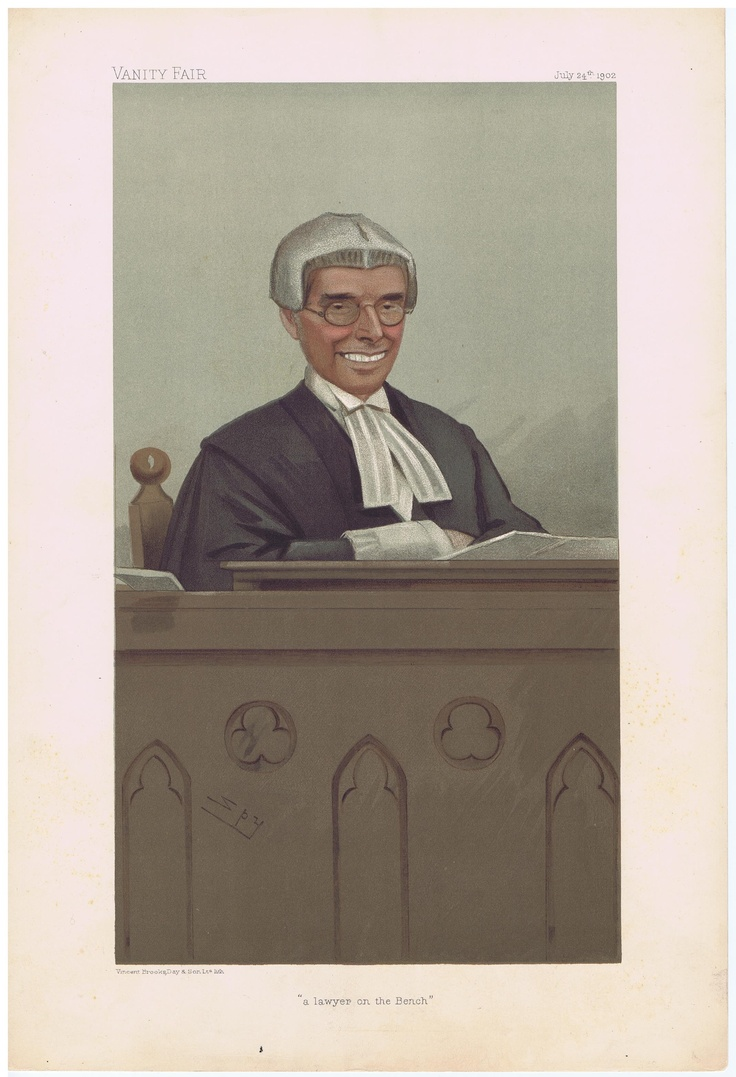 Date: 24-Jul-1902 The Vanity Fair Caricature of The Hon. Sir Joseph Walton With the caption of : A Lawyer on the Bench By the artist: SPY Visit www.theakston-thomas.co.uk for many more Vanity Fair Prints, we have one of the largest collections in the world.