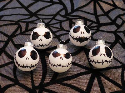 Jack Skellington Nightmare Before Christmas Halloween Ornaments