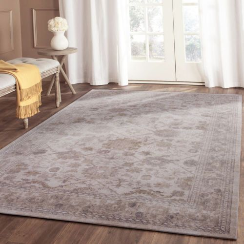 Extra-Large-Floor-Rug-Beige-Blue-White-Traditional-Mat-Distressed-Artsy-Carpet